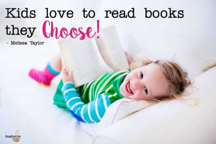 It's so important to let kids choose the books they want to read -- even if it's from a selection!