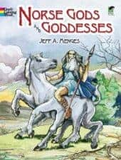 Dover Coloring Gods and Goddesses Norse Books for Kids
