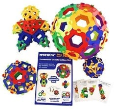 ITSPHUN Geometric Construction Kit - Polygons STEAM / STEM Gifts for Smart Kids