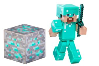 Minecraft Diamond Steve Action Figure Stocking Stuffers for Kids and Teens Ages 3 - 13