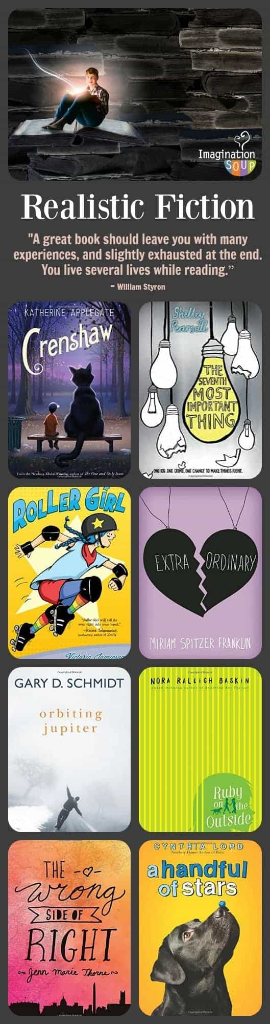 Realistic fiction middle grade books