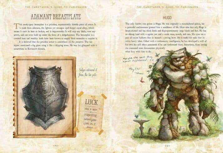 The Caretaker's Guide to Fablehaven interior pages