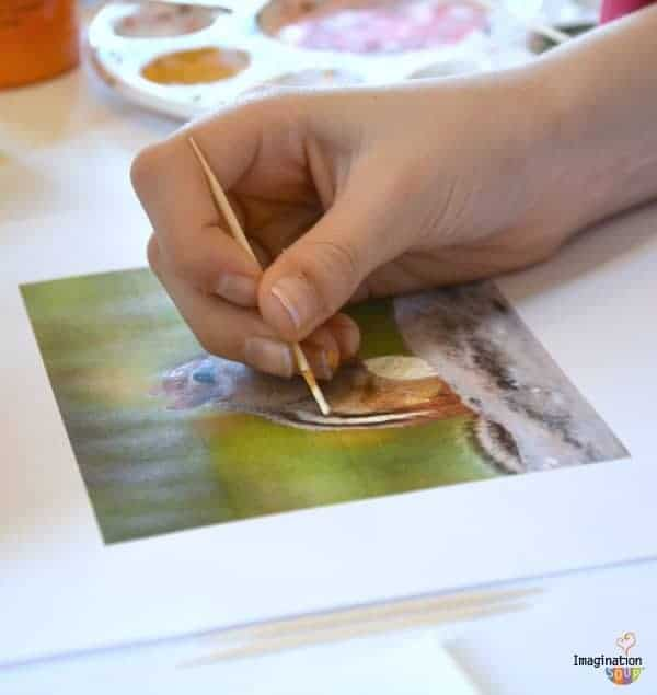 painting with a toothpick