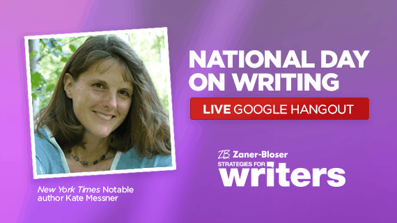 Celebrate the National Day on Writing With Author Kate Messner