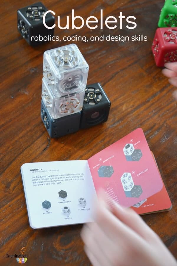 Cubelets for robotics, coding, and design skills