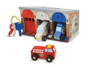 Lock and Roll Rescue Truck Garage Pretend Play Toys