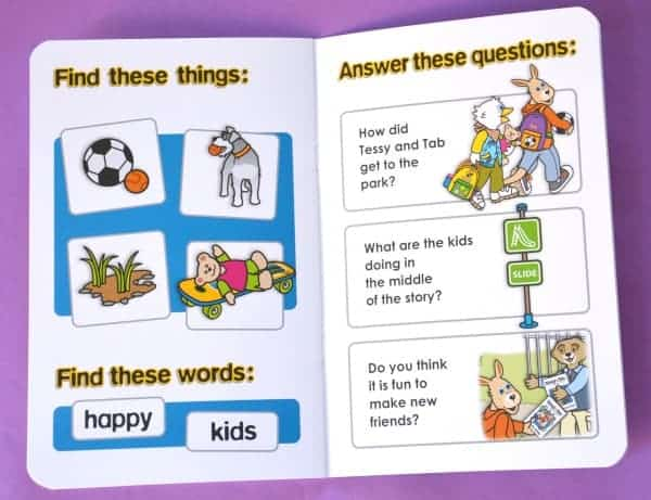 Tessy and Tab book pages Review early readers beginning readers books