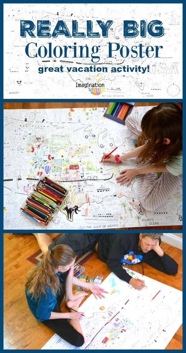 really big coloring poster for family fun -- great for vacations!