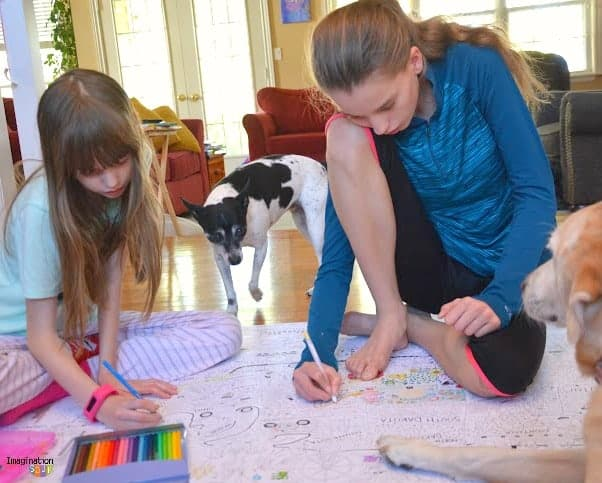 Big Family Fun with Gigantic Coloring Poster