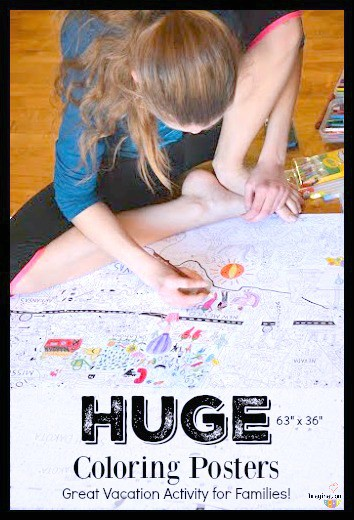 Big Family Fun with Gigantic Coloring Poster | Imagination Soup