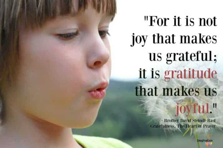 our family practice of thankfulness and gratitude