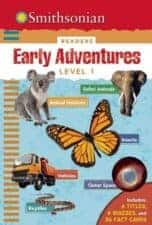 Nonfiction Books for Kids Smithsonian Early Adventurers Level 1 Readers- Safari Animals, Animal Habitats, Insects, Vehicles, Outer Space, Reptiles