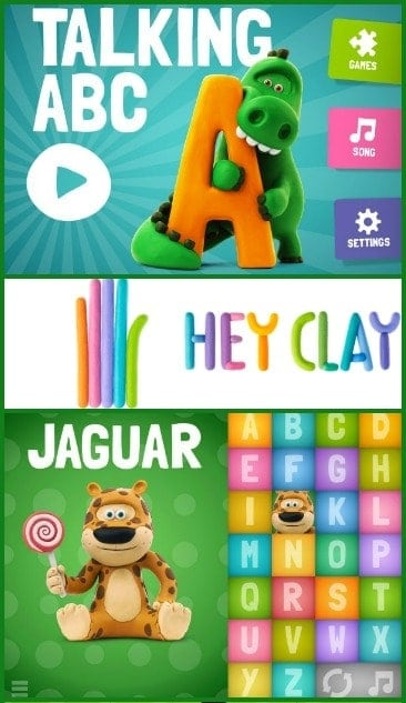 Talking ABC claymation app for preschoolers