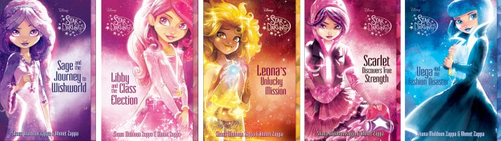 Star Darlings Book Covers for new fantasy series from Disney Media