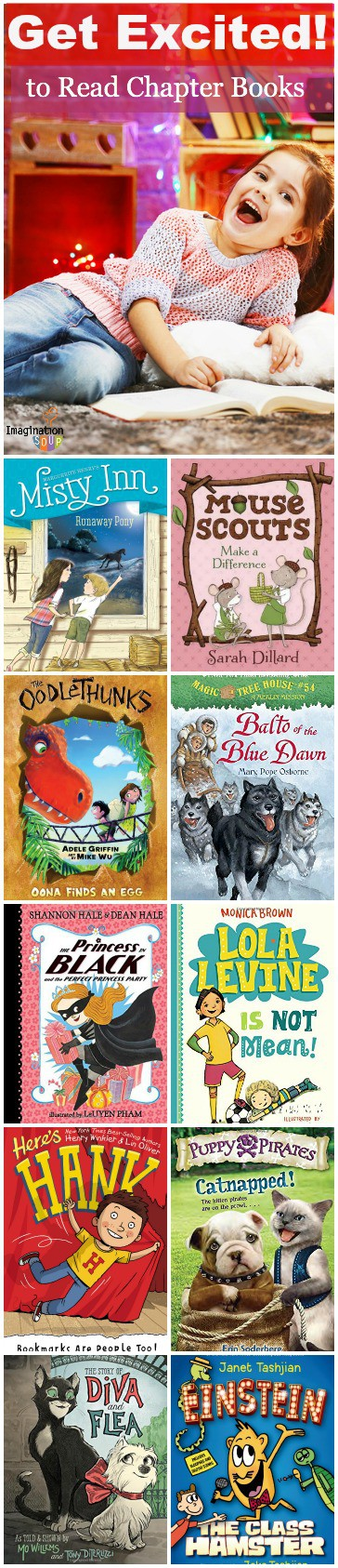 book recommendations for kids transitioning to easy, beginning chapter books