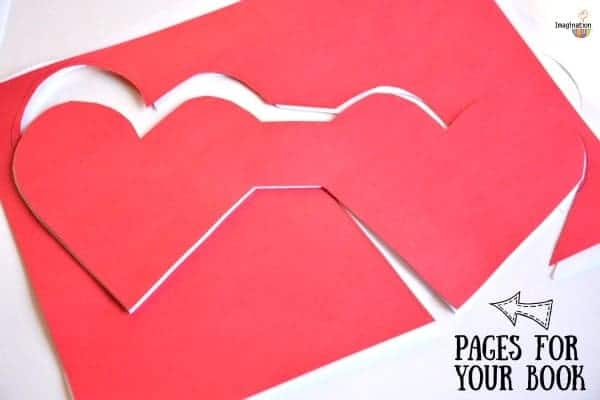 DIY handmade heart book for kids