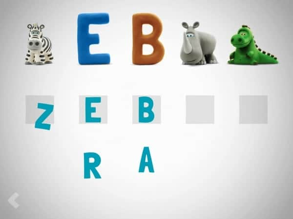 z zebra HEY CLAY Adorable Claymation Alphabet App