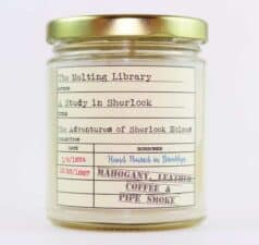 A Study in Sherlock Candle