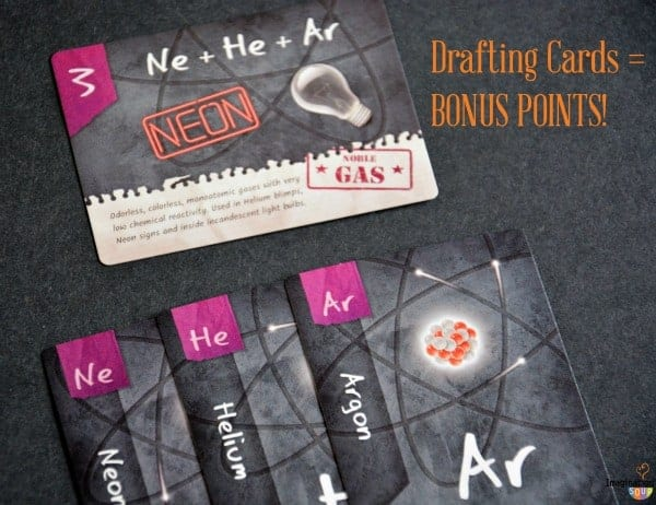 ION compound building game Chemistry for Kids review game drafting cards