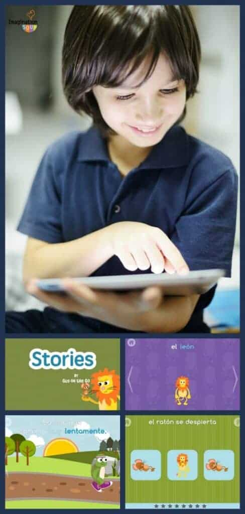 Stories by Gus on the Go Spanish language learning for Kids