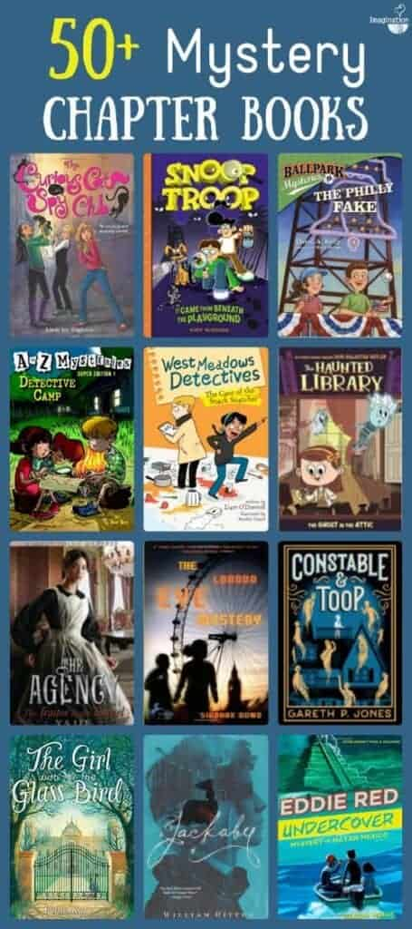 huge list of mystery chapter books for kids