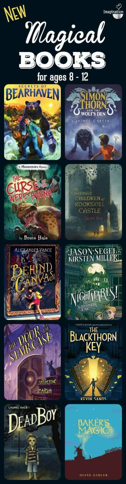 10 new magical books for middle grade readers in elementary ages 8 to 12