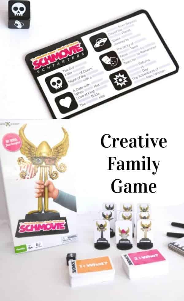This looks so fun! SCHMOVIE Creative Family Game