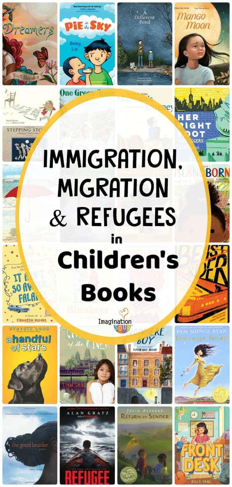 immigration, migration, refugees in children's books