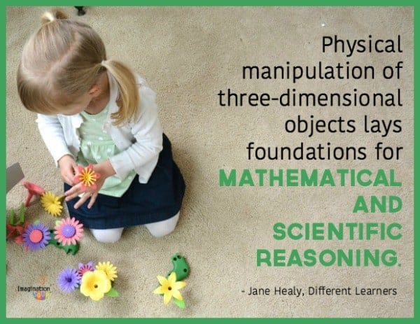 kids learn math and science with hands-on playing