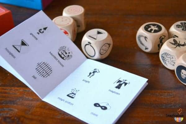 story dice fairy tale and magic game