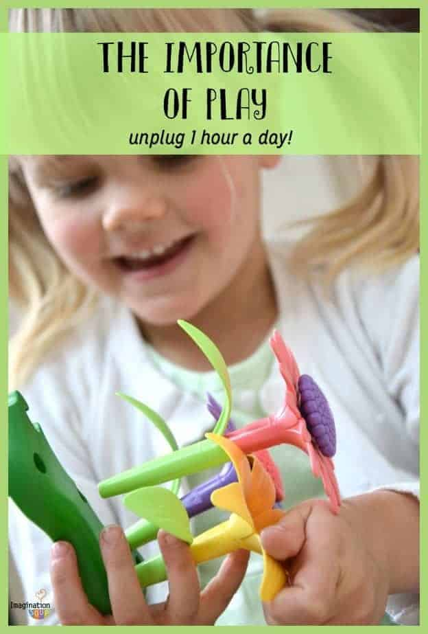 How to Raise a Happy, Creative, and Smart Child the importance of play (goal: unplug one hour a day or more)