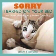 Sorry I Barfed on Your Bed children's books about cats