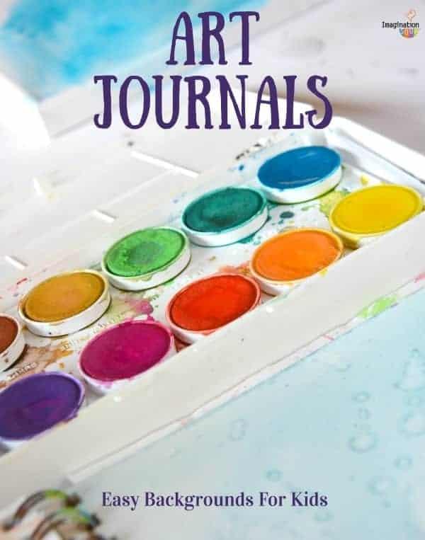 art journals easy backgrounds for kids