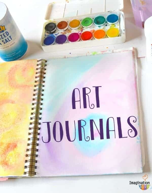 fun background ideas for art journals