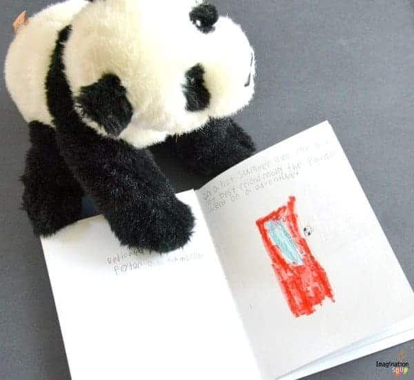 stuffed animal writing activity for kids