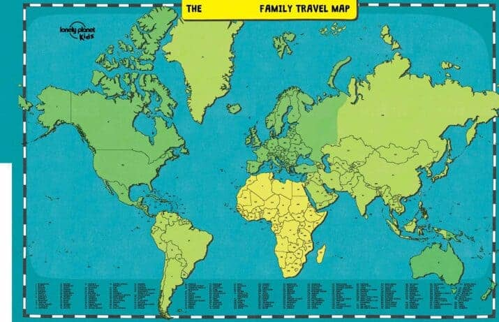Family Travel Map sample pages
