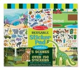 REusable STicker Pad Habitats Terrific Travel and Activity Books for Kids
