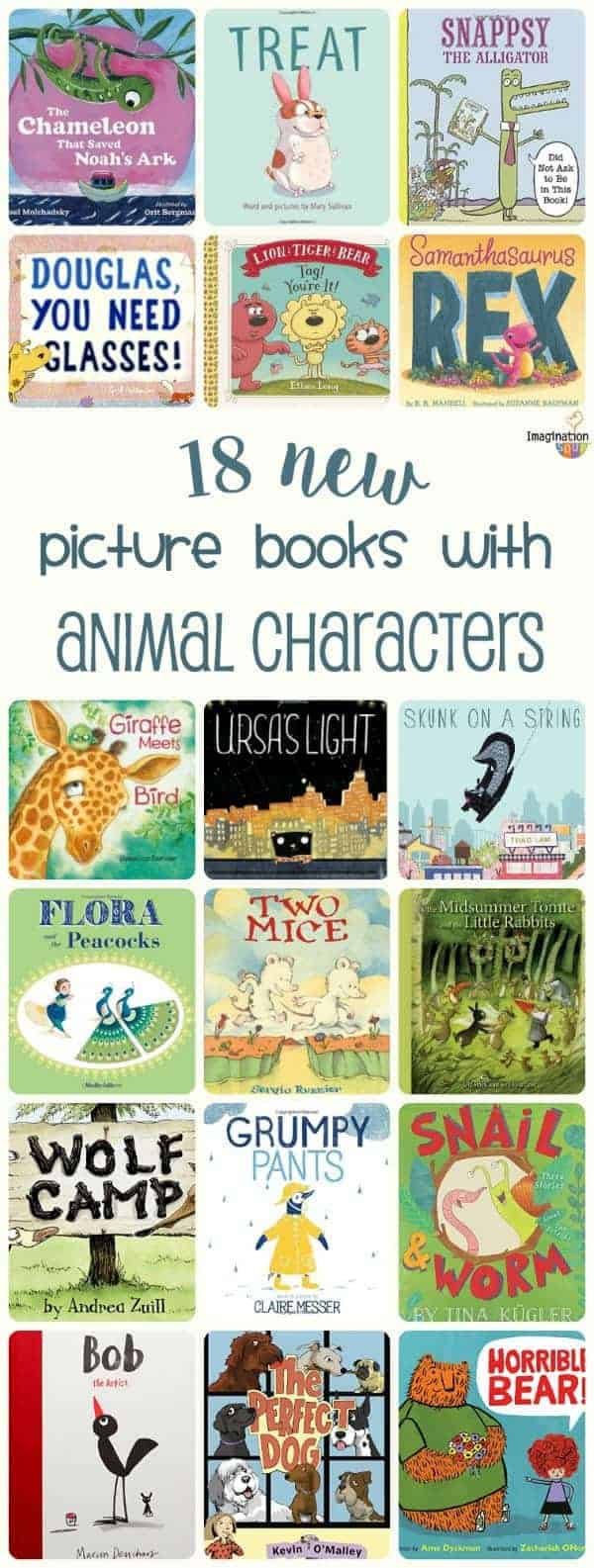 fun picture books starring animal characters, 2016