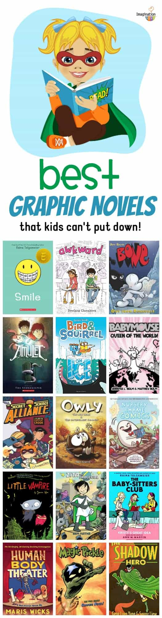 the best graphic novels and comics for kids!!