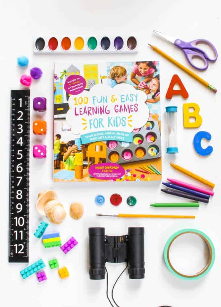 Hands-On Addition Activity from 100 Fun and Easy Learning Games for Kids