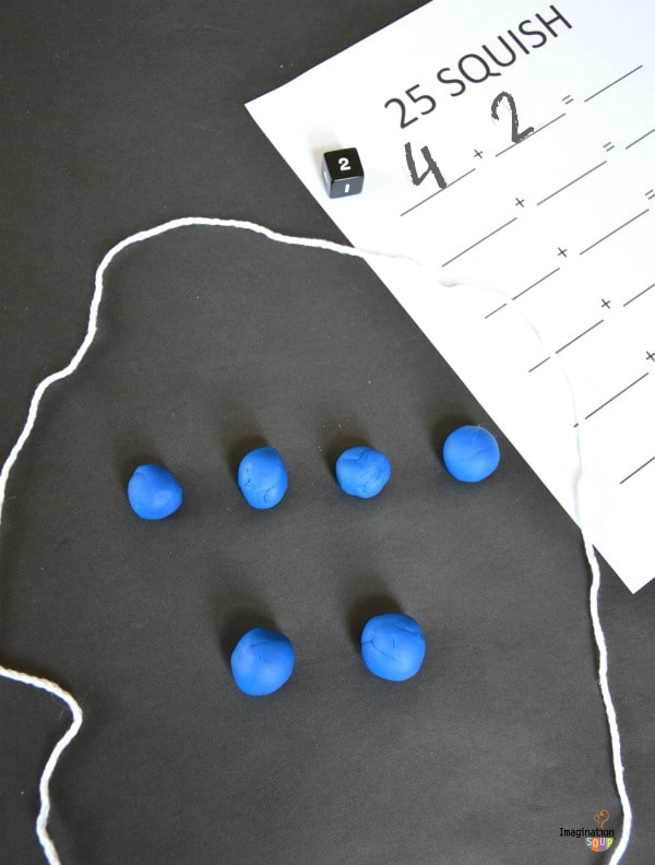 Hands-On Addition Activity -- 25 Squish