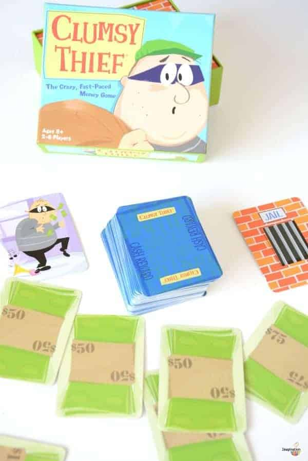 Clumsy Thief math addition card game - great for honing mental math skills