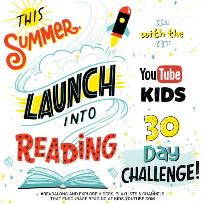 Summer Reading Challenge YouTube YouTube Kids wants kids to take a 30 day reading challenge with reading-related videos