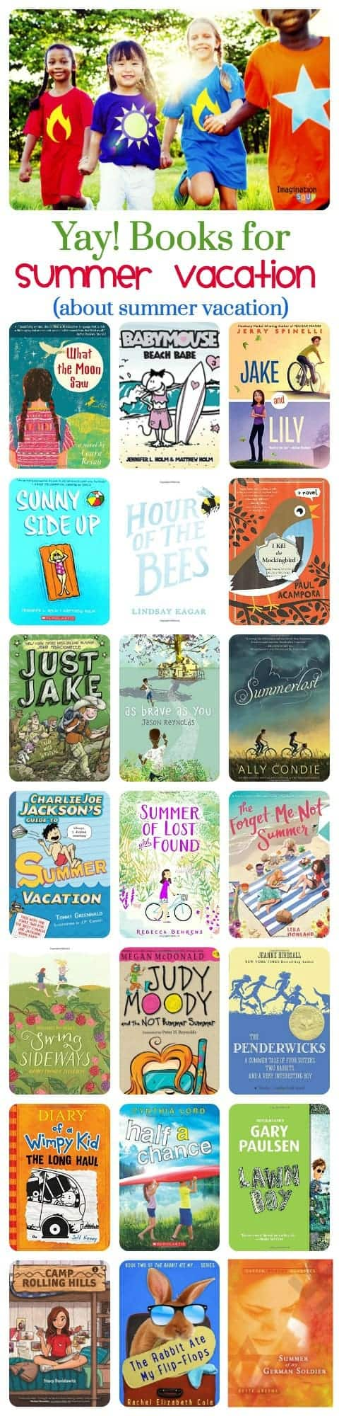 chapter books about summer vacation