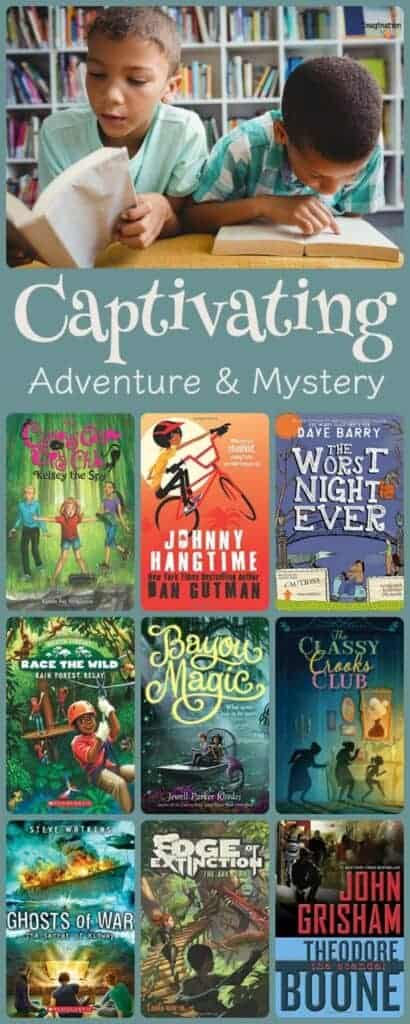 your kids will love these captivating adventure and mystery chapter books