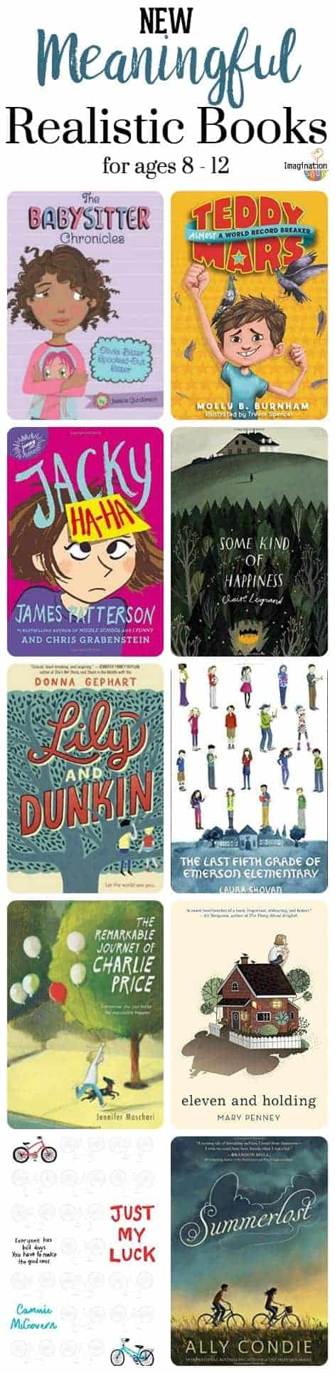 new, meaningful realistic books for ages 8 to 12