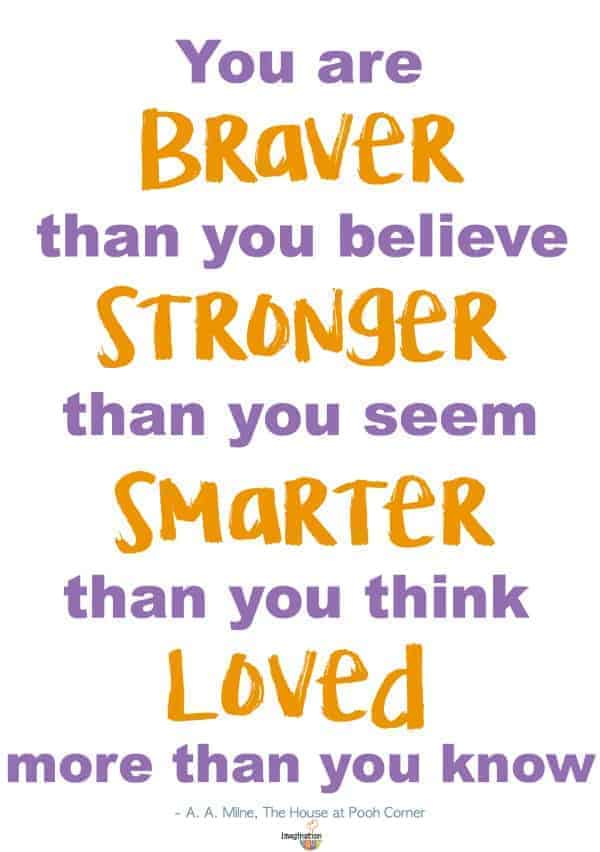 A.A. Milne quote free back to school fonts