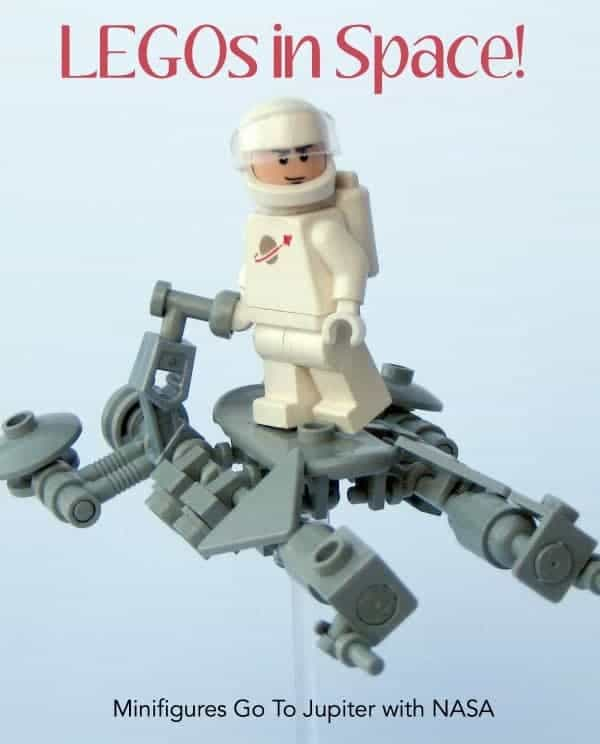 LEGO mini figures visit Jupiter with NASA & give kids back on Earth ways to get involved!