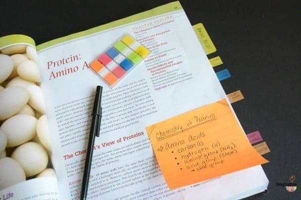 Note Taking with Post-It Products (in a Textbook)