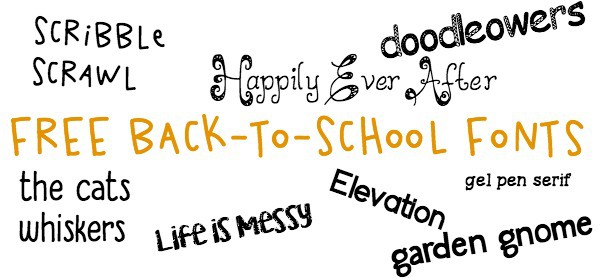 free back to school fonts for teachers